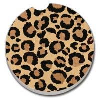 "3"" Round Leopard Spot Car Coaster"