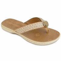 Size 9 Lindsay Phillips Bonnie Tan Flip Flops