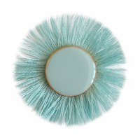 Set of 2 Lindsay Phillips Lillian Turquoise Fringe Button Snap