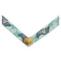 Medium Lindsay Phillips Georgia Blue and Gold Palmetto Palm Strap