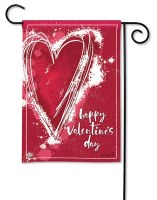 "13"" x 18"" Mini Happy Valentine's Day Heart Garden Flag"