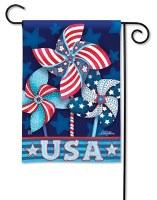 "13"" x 18"" Mini Patriotic Pinwheels Garden Flag"