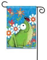 "13"" x 18"" Mini Frog Fun Garden Flag"