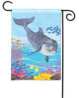 "13"" x 18"" Mini Dolphin Garden Flag"