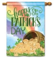 "28"" x 40"" Pot-O-Gold St. Patricks Day Garden Flag"