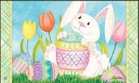 """18"""" x 30"""" Easter Bunnys Here Doormat"""