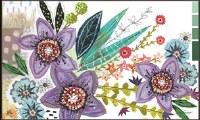 """18"""" x 30"""" Multicolored Flowers Doormat"""