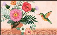 "18"" x 30"" Hummingbird With Flower Pot Doormat"