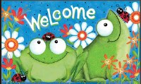 "18"" x 30"" Frog Fun Welcome Doormat"
