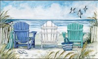 "18"" x 30"" Blue Beach Chairs Doormat"