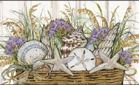 "18"" x 30"" Shells and Seaoats In Pot Doormat"