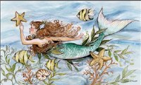 """18"""" x 30"""" Mermaid Song Doormat"""