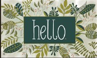 "18"" x 30"" Green Leaf Hello Doormat"