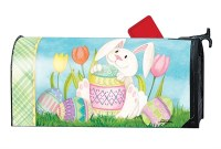 "7"" x 19"" Easter Bunnys Here Mailwrap"