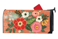 "7"" x 19"" Multicolored Flowers On Coral Mailwrap"