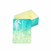 "3"" x 4.5"" Blue and Green Sealife Capiz Box"