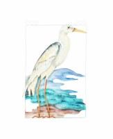 Blue Heron Capiz Plaque