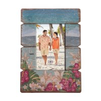 "4"" x 6"" Multicolored Tropical Flower Picture Frame"