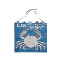 """14"""" Blue Moody Crabby Wall Plaque"""