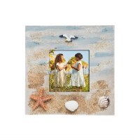 "3"" x 3"" Sand With Shells Picture Frame"