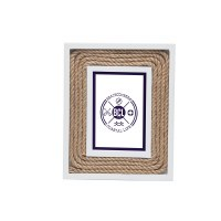"3"" x 5"" White With Rope Picture Frame"