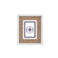 "2.6"" x 4"" White With Rope Picture Frame"