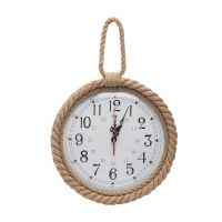 "11"" Round Rope Rimmed Wall Clock"