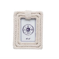 "4"" x 6"" Cream Rope Picture Frame"