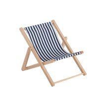 "7"" Navy and White Stripe Sling Chair"