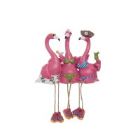 "7"" 3 Flamingos Shelf Sitter"