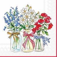 "5"" Square Patriotic Floral Beverage Napkin"