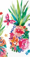 """8.5"""" x 4.5"""" Multicolored Flower Shaped Pineapple Guest Towel"""
