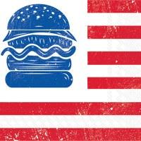 """5"""" Square All American Burger Beverage Napkin"""
