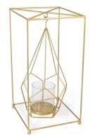 """16"""" Gold Pentagon Lantern"""