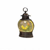 "11"" LED Frog In Boat Glitter Lantern"