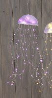 "18"" LED Pink Jellyfish Dangle"