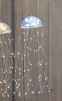 "18"" LED White Jellyfish Dangle"