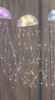 "18"" LED Yellow Jellyfish Dangle"