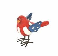"4"" Red Head Patriotic Bird"