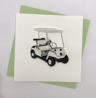 """6"""" Square Quilling Golf Cart Card"""