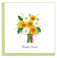 """6"""" Square Quilling Thanks A Bunch Flower Card"""