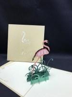 """6"""" Square Pop Up Flamingo Card"""