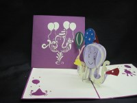 """6"""" Square Pop Up Birthday Octopus Card"""