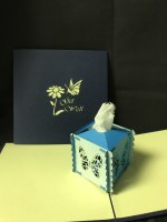 """5"""" Square Pop Up Tissue Box Get Well Card"""