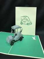 "5"" Square Pop Up Golf Cart Card"