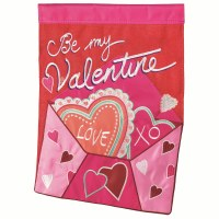 "42"" x 29"" Be My Valentine Envelope Garden Flag"
