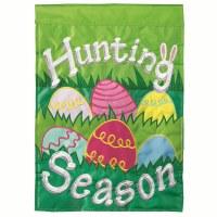 "18"" x 13"" Mini Egg Hunting Season Garden Flag"
