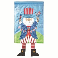 "18"" x 13"" Mini Uncle Same With Dangle Legs Garden Flag"