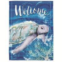 "18"" x 13"" Welcome Turtle Garden Flag"