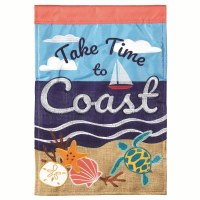 "42"" x 29"" Take Time To Coast Garden Flag"